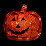 Flashing Panda LED Freezable Pumpkin Ice Cube - Perfect for Halloween, Multicolor - 1 cube
