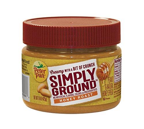 - Peter Pan Simply Ground Honey Roast Peanut & Natural Honey Spread, 15 Ounce