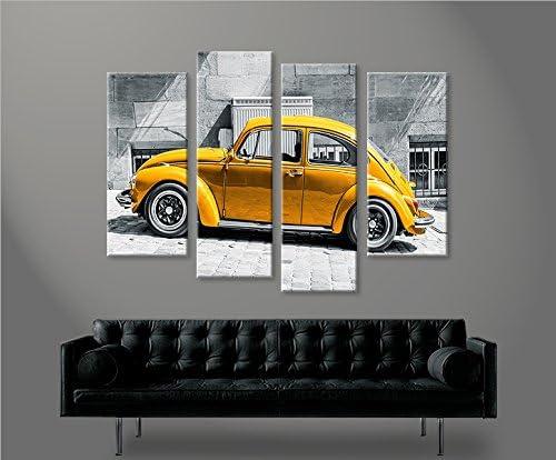 Images Photo islandburner Impression sur Toile VW K/äfer Kult Auto Beetle 4er Image sur Toile d/éco Murale Tableau Tableaux