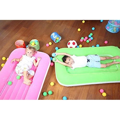 Rose enfants 20,3cm gonflable Lit simple Matelas gonflable floqué Kiddie veille sur NEUF