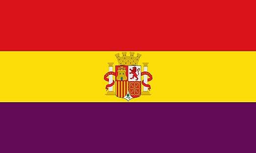magFlags Bandera Large España Durante la Segunda República 1931-1939   Bandera Paisaje   1.35m²   90x150cm: Amazon.es: Jardín