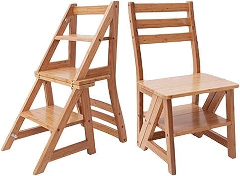 J-Escalera de Tijera Portátil 3 Niveles Plegables Taburete Escalera De Madera Estable Baja Estante Puesto De Flores, Familia Cocina Adulto Niño (Color : Brown): Amazon.es: Bricolaje y herramientas
