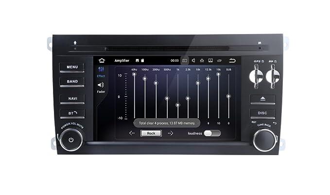 Freeauto para Porsche Cayenne 7 pulgadas 2 Din Android 7.1 Quad Core 1024 pantalla táctil HD Radio coche estéreo receptor coche DVD GPS de navegación libre ...