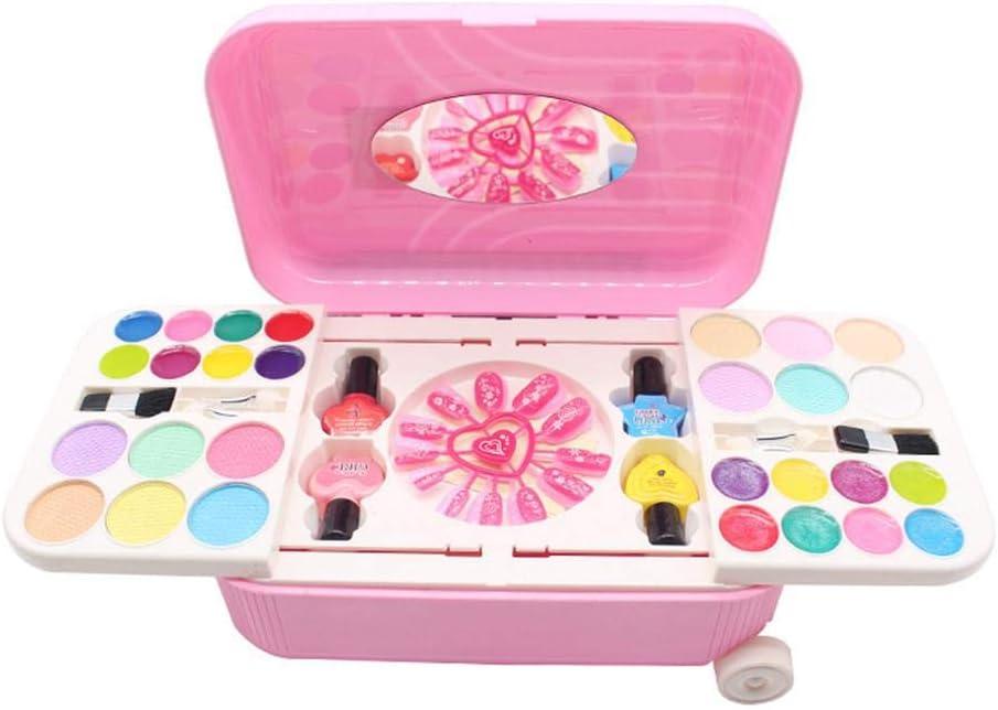 Girl Princess Pretend Toys Kids Cosmética Soluble En Agua Set Peelable Esmalte de Uñas Maquillaje Juguete Un Buen Regalo Y Juguete Divertido Para Niños A Partir De 5 Años