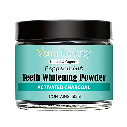 Natural Teeth Whitening Powder - Made with Organic Bamboo Activated Charcoal and Food Grade Formula –for Sensitive Teeth and Healthy Whitener
