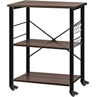 AZL1 Life Concept Accent 3-Tier Kitchen Rack Utility Microwave Oven Stand Movable Cart Workstation Shelf, 23.7inch, 23…