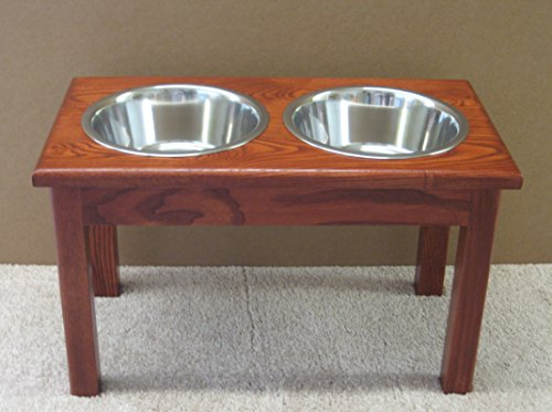 2 Bowl Traditional Style Pet Diner Size: X-Large (16