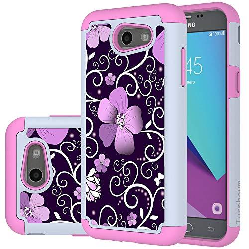 - Galaxy J3 Emerge Case, Samsung J3 Prime / J3 Mission / J3 Eclipse / J3 Luna Pro/Sol 2 / Amp Prime 2 / Express Prime 2 Case, Turphevm Hybrid Shockproof Armor Case for Samsung J3 2017 (Pink Violet)