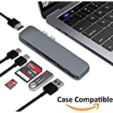 Elecstars USB C Hub, USB C Adapter, Multiport USB C to HDMI Adapter with Type C Charging Port, USB 3.0 Ports, SD/TF Card Reader, 3.5mm Audio/Mic 2in1, for New Macbook Pro, Google Chromebook and more