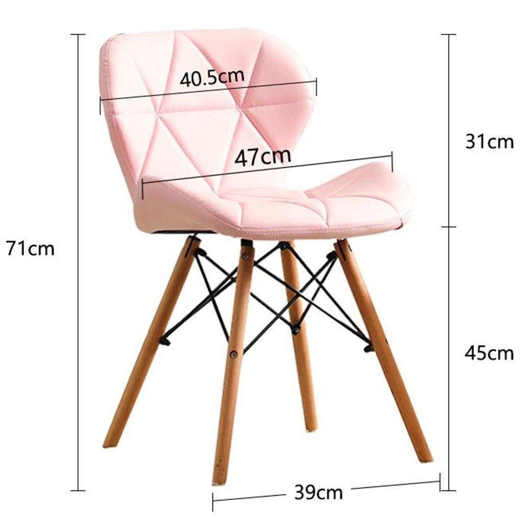 HEJINXL Uppsättning av 2 matstolar, köksstolar bomull och linne baksida massiv boktfjäril stol passar för makeupstol arbetsstol datorstol (färg: B) F