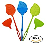 RB Home Solutions Fly Swatter with Dustpan Colorful 3 pack (Orange, Blue, Green)