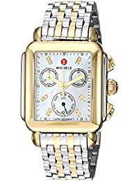 Deco Twelve Diamonds Chronograph 18k Two Tone Womens Watch MWW06P000122