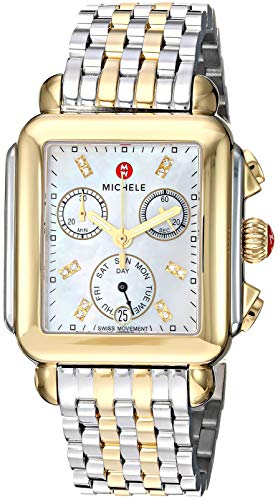 Michele Deco Twelve Diamonds Chronograph 18k Two Tone Women's Watch MWW06P000122