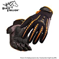 BLACK STALLION ToolHandz Anti-Vibration Leather Mechanics Gloves GX100 - LARGE by Revco Industries