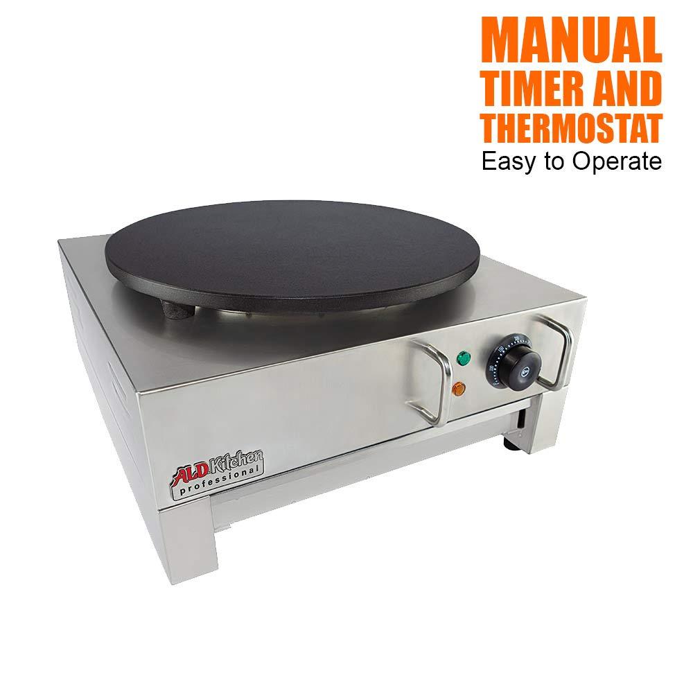 ALDKitchen Electric Crepe Machine Griddle, Commercial Electric Plate Crepe Machine Snack Machine Electric Hot Plate (Single) by ALDKitchen (Image #4)