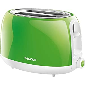 2 Slice Electric Toaster Color: Solid Green