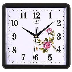 Decorative Wall Clock/Living Room Fashion European Creative Art Bell/ Silent Electronic Quartz Clock Square-B 9inch