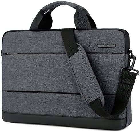 BRINCH 15.6 Inch Laptop Shoulder Bag,Classic Lightweight Slim Portable Laptop Messenger Sleeve Case for Work/Travel,Fits 15-15.6 Inches Laptop/Notebook/MacBook/Ultrabook Computer,Black