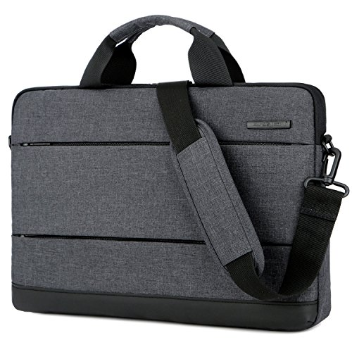 Lightweight Notebook Case - BRINCH 15.6 Inch Laptop Shoulder Bag,Classic Lightweight Slim Portable Laptop Messenger Sleeve Case for Work / Travel,Fits 15 - 15.6 Inches Laptop / Notebook / MacBook / Ultrabook Computer,Black
