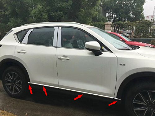8PCS Beautost Fit For Mazda 2017 2018 2019 CX-5 CX5 Body Side Door Moulding Overlay Cover Trims Stainless Steel