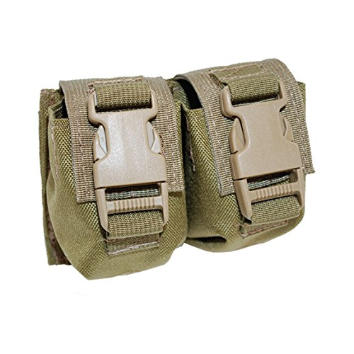 (BDS Tactical Modular Double Frag Grenade Pouch - Coyote Brown)