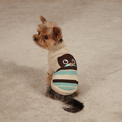 Zack & Zoey Piggy Back Pals Sweater and Hat Set for Dogs, 12'' Small, Owl by Zack & Zoey (Image #1)
