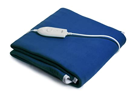 Expressions 350 TC Polyester Single Electric Bed Warmer Under Blanket - Solid, Blue