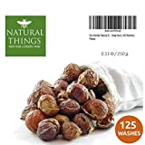 organic soap nuts - Natural Things Organic All Natural Laundry and Dishwashing Detergent Soap Nuts for Eco Friendly, Premium Grade, Sustainable & Green Laundry (125 Loads). Includes Wash bag