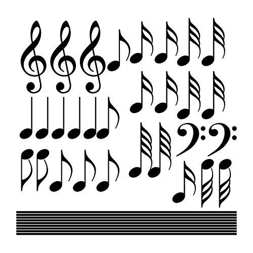 (Musical Notes Wall Decal Set - Sizing Information in Description)
