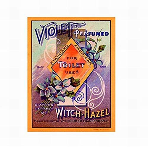 (Jesiceny New Tin Sign Bathroom Toilet Violet Perfumed Soap Aluminum Metal Sign for Wall Decor 8x12 INCH)