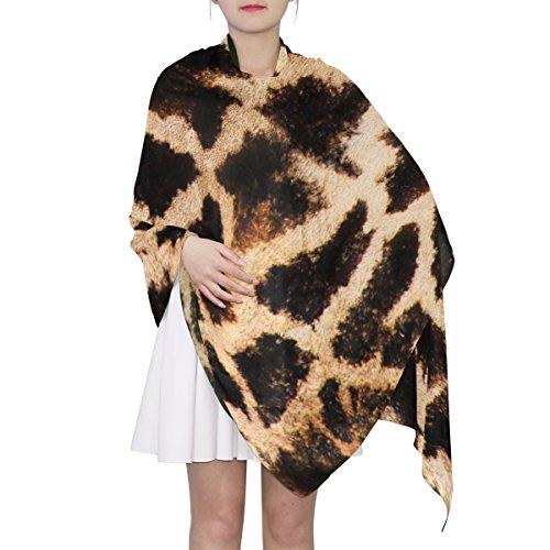 (Women's Scarf Silk Scarf Blanket Lightweight Neck Scarf with Cat Skin Texture Pattern Shawl Wrap 70