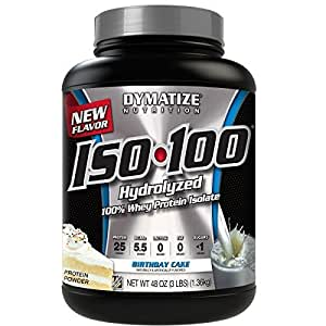 birthday cake protein powder dymatize iso 100 whey protein powder isolate 1777