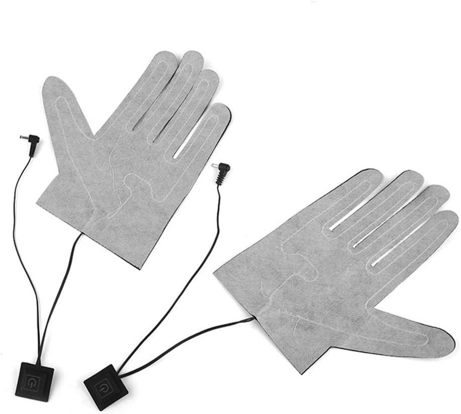decaden 1PCS Handschuhheizung,F/ünf-Finger-Handschuhe USB-Elektroheizkissen Lithium-Batterie-Netzteil Dreistufiger Thermostatschalter Heizplatte ohne Handschuhe