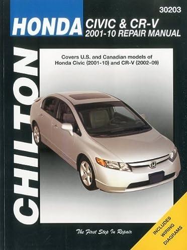 honda civic crv service and repair manual 2001 to 2010 haynes rh amazon com Honda Lawn Mower Service Manuals honda city 2010 maintenance manual