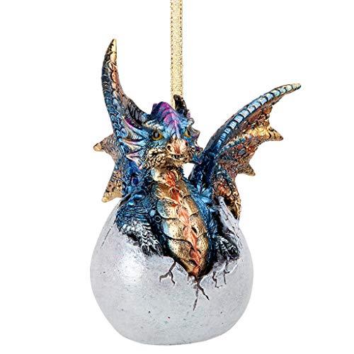 Design Toscano Hard Boiled Dragon Hatchling Holiday Ornament,