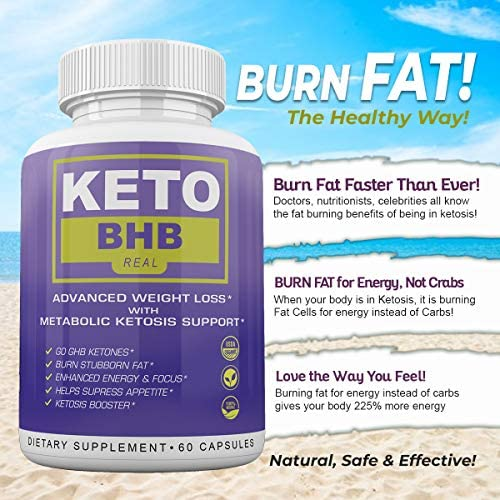 Keto BHB Real - Advanced Weight Loss wqth Metabolic Ketosis Support - 60 Capsules - 30 Day Supply 7
