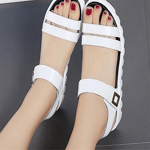 XZGC Zapatos de tacón Mujer blanco