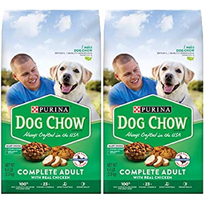 2 Bags of Purina Dog Chow Complete with Real Chicken Adult Dry Dog Food - 4.4 lb. ea