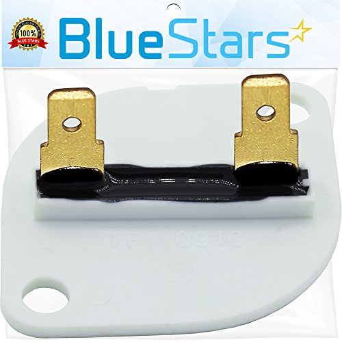 3390719 Dryer Thermal Fuse Replacement part by Blue Stars - Exact fit for Whirlpool & Kenmore Dryer - Replaces 688841, 690198, 279650, 3389639 (Detail Thermal)