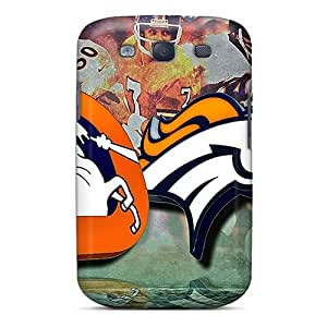 Galaxy S3 Denver Broncos Print High Quality Tpu Gel Frame Case Cover
