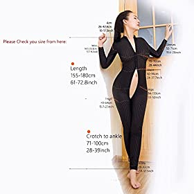 - 51RIWxdxJ7L - Kingmistres Sexy Bridal White Front Zip Vertical Stripes Spandex Zentai Catsuit Bodysuit Night Club Costume