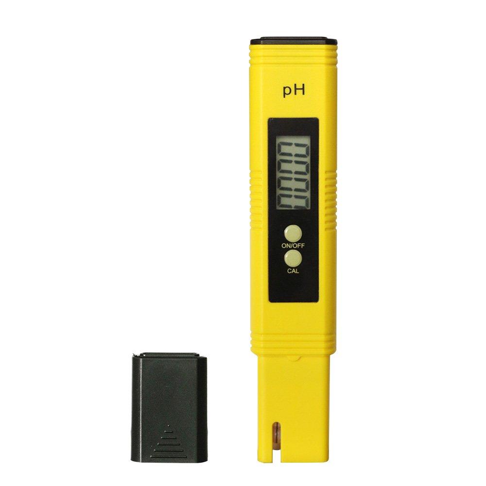MacDoDo PH-02 Medidor Digital de PH, para agua de acuario, piscina, hidromasaje – Botón de presión de calibración, Resolución 0,01/alta precisión +/-0,05 ...