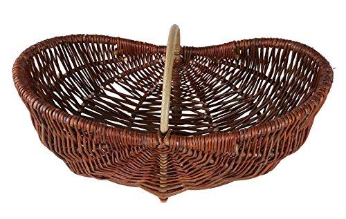 Handgeflochtener ovaler Einkaufskorb aus 100% natürlicher Weide 62cm x 27cm x 32cm (K50)