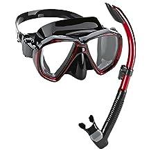 Phantom Aquatics Velocity Scuba Snorkeling Mask Dry Snorkel Set