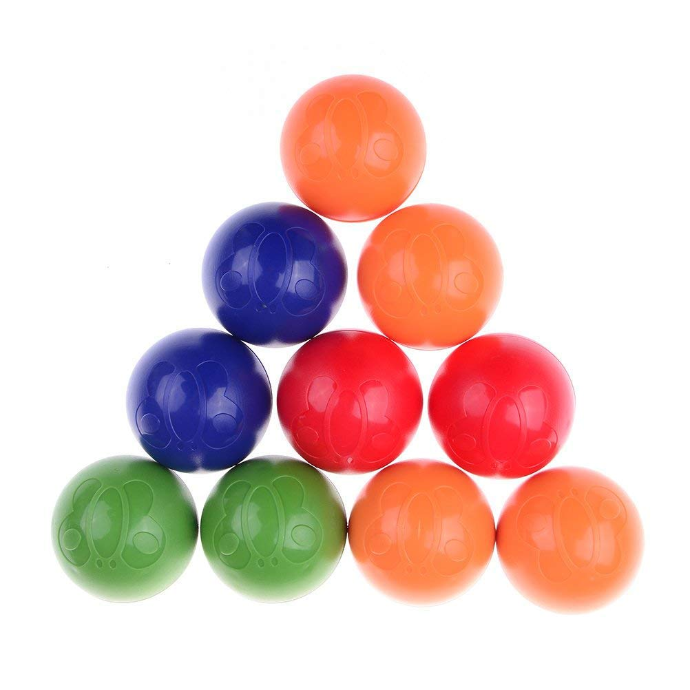 一番人気物 Dingjin 10個Infants Early 10個Infants Early Childhoodプラスチックボールシェイカー幼児用Rattle Ballおもちゃ赤ちゃん教育玩具 B07BT3SWQH、5色 B07BT3SWQH, MixCD24:fa0e7149 --- arianechie.dominiotemporario.com