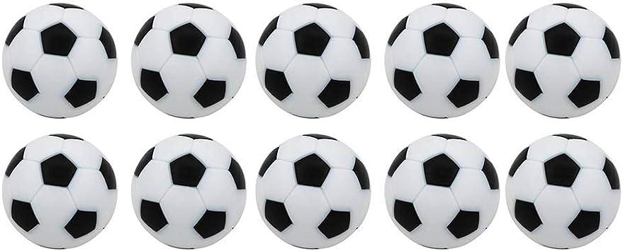 VOSAREA Reemplazos de futbolín de futbolín 10pcs 32 mm Mini Bolas de fútbol en Blanco y Negro: Amazon.es: Deportes y aire libre