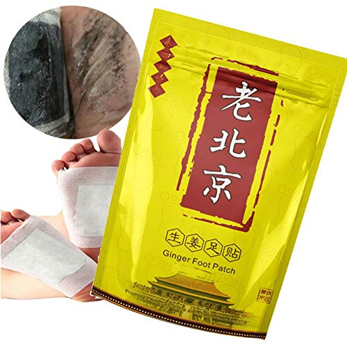20 Pcs Anti-Swelling Ginger Foot Pads For Promote Blood Circulation & Metabolism, Pain & Tiredness Relief, Good Sleep