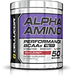 Cellucor Alpha Amino Performance BCAA Powder, BCAAs & Essential Amino Acids for Recovery, Fruit Punch, 50 Servings
