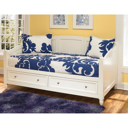 Amazon Com Home Styles 5530 85 Naples Daybed With Storage White Finish Kitchen Dining