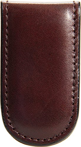 Bosca Leather Bag - Bosca Old Leather Collection-Magnetic Money Clip, Dark Brown